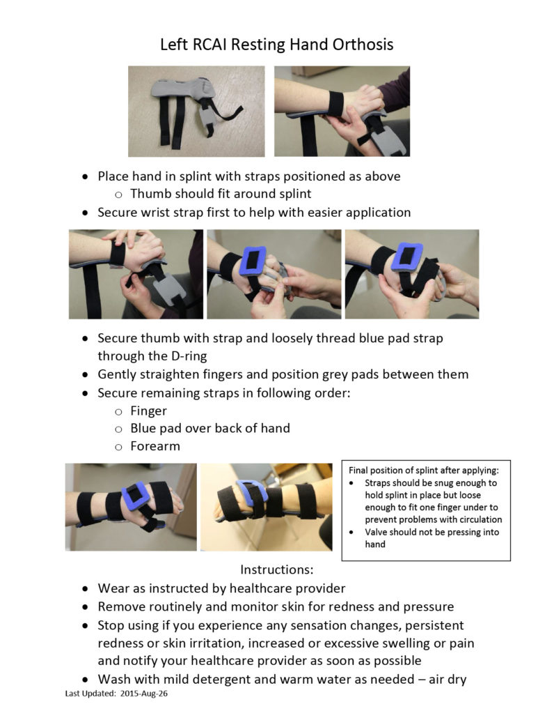 Left RCAI Resting Hand Orthosis
