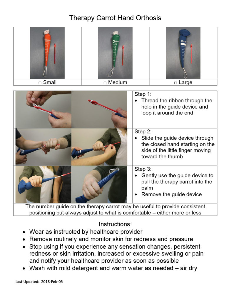 Therapy Carrot Hand Orthosis